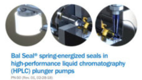 Bal Seal® spring-energized seals in high-performance liquid chromatography (HPLC) plunger pumps