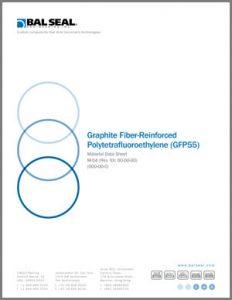 Graphite fiber-reinforced PTFE