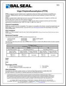 Virgin PTFE Materials Sheet