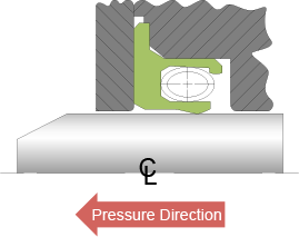 Bal Seal® low-speed rotary sealing diagram