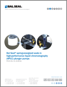 Bal Seal® Seals in HPLC Plunger Pumps