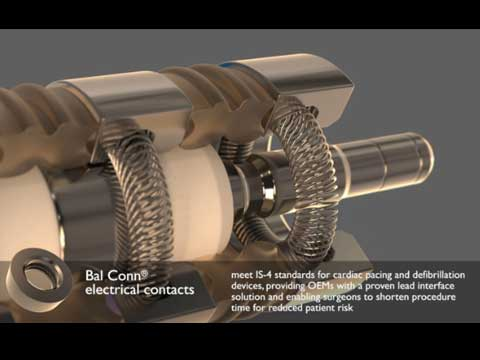 CRM Implantables With Bal Conn Electrical Contacts