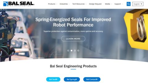 New Bal Seal Website Helps Designers Find Solutions Fast